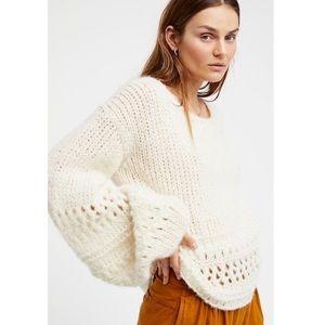 Free People Powder Puff Oversized Sweater